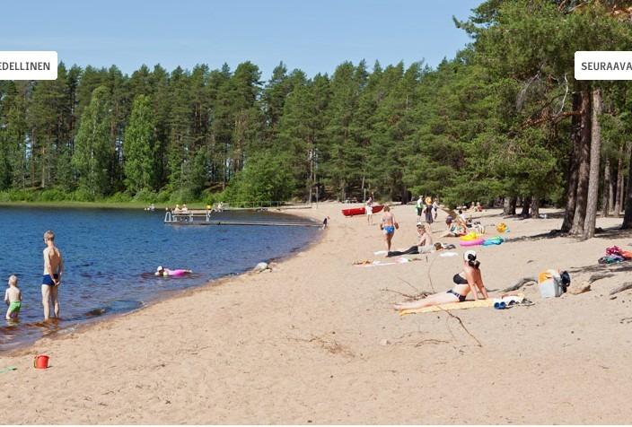Kihnio Pyhaniemi ranta kesällä